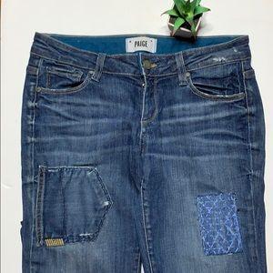 🌵Paige Jimmy Jimmy skinny patch denim jeans